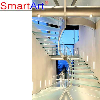 High Quality Stainless Steel Curved Staircase