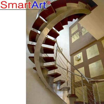 Modern House Glass Single Stringer Staircase