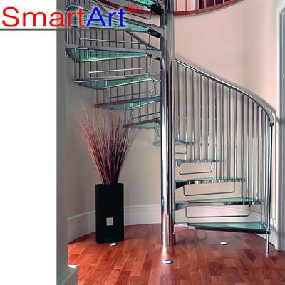Spiral staircase Glass staircase Tempered glass staircase Steel stairc...