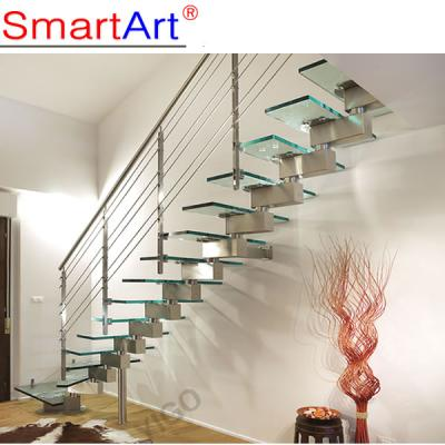 Fashionable Steel Glass I type Staircase