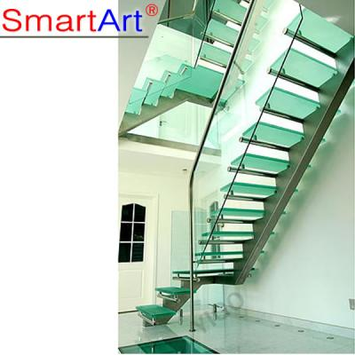 High Quality Stainless Steel Single Stringer Staircase