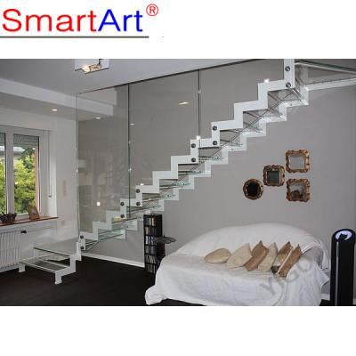 Strong stringer staircase stainless steel staircase modern staircase g...