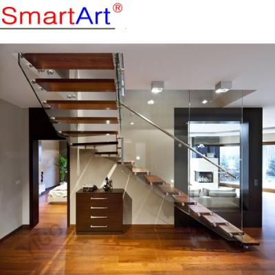 Beech wood staircase glass staircase timber staircase railing