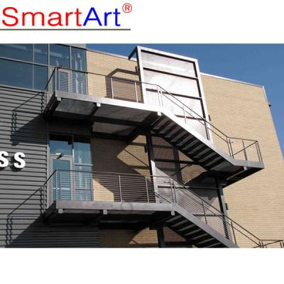 Mild steel stair outdoor staircase safty staircase