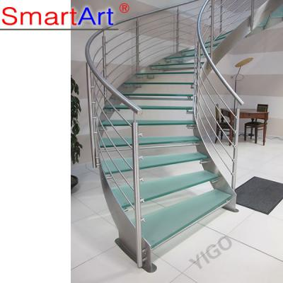 Modern Galvanized Steel Curved Staircase