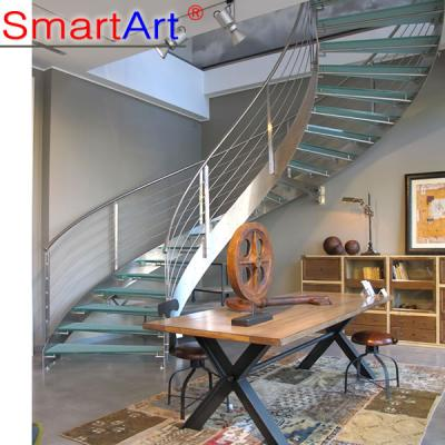 OEM stainless Steel Curved Staircase