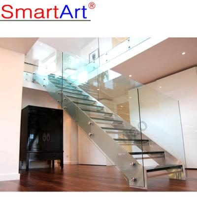 Steel Plate staircase strong stringer staircase glass staircase