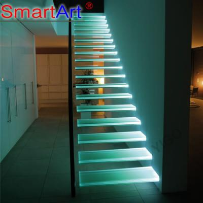 Led Light  staircase glass staircase stainless staircase