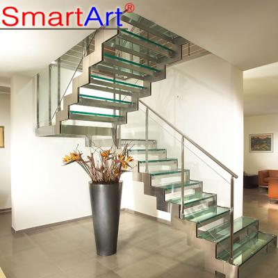 Interior staircase new design staircase style frameless glass staircas...
