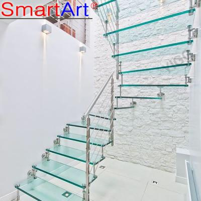 Frameless glass staircase steel staircase