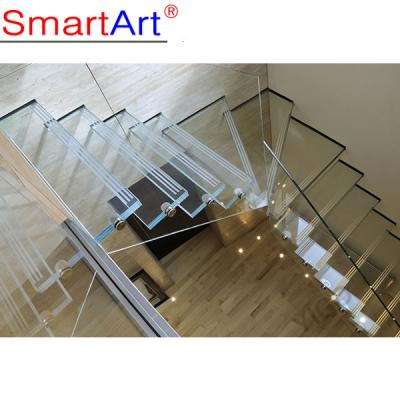 Floating glass staircase new design 9