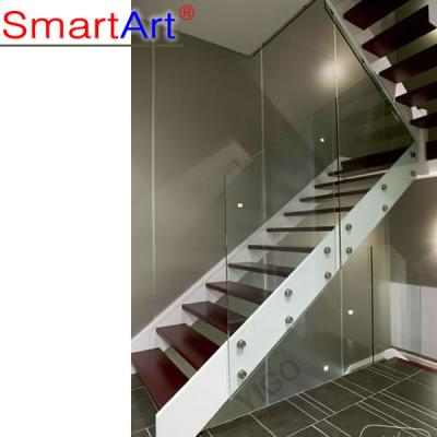 Stainless steel glass staircase balustrade indoor staircase popular