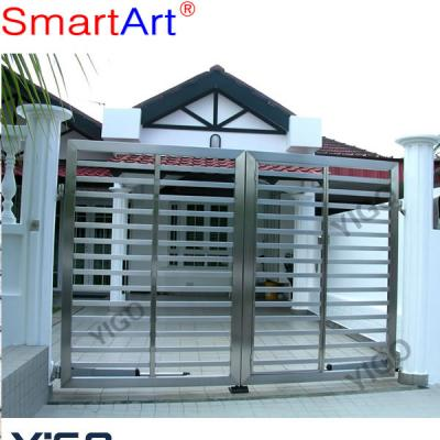 Auto swing stainless steel gate high quality