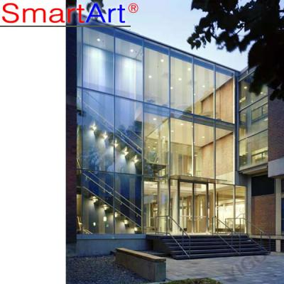 Glass facade Tempered glass fade stainless glass wall