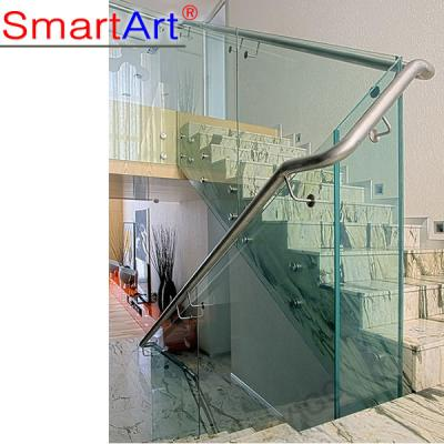 Standoffs railing glass for concrete staircase
