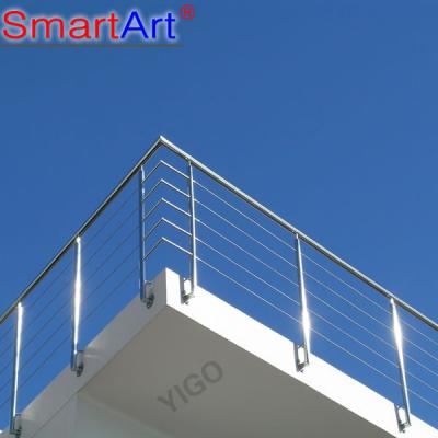 Professional inox/stainless steel outdoor balcony railing design