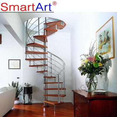 Home Design Solid Wood Circular Staircase