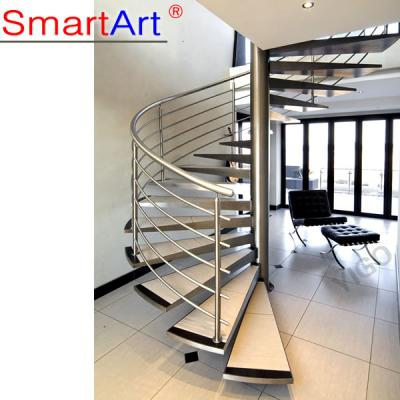 Commercial Solid Wood Spiral Staircase