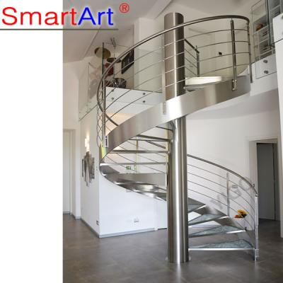 Anti-slip Toughened Glass Helical Staircase